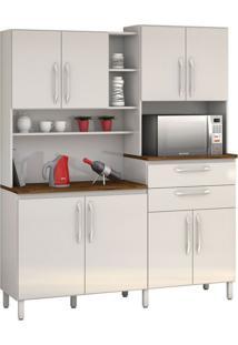 Armário De Cozinha Rubi 8 Portas Branco Vitamov