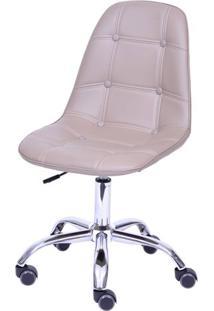 Cadeira Eames Botone Fendi Com Base Rodizio - 54685 - Sun House