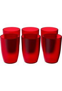 Conjunto De Copos Com 6 Unidades Cozy Vermelho