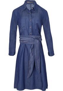 Vestido Jeans Basic Bobstore - Azul
