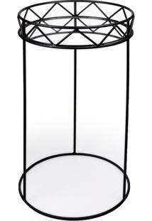 Mesa De Canto- Espelhada & Preta- 70X38,5X38,5Cmdecor Glass