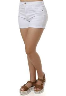 Short Sarja Feminino Branco