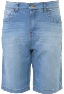 Bermuda Jeans Quiksilver Slim Avalon Med Azul