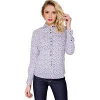 521e690bb Camisa Estampada Colcci - Feminino-Branco