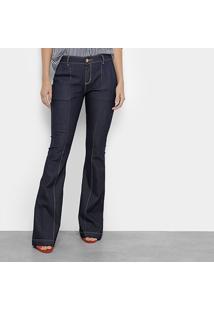 Calça Jeans Flare Morena Rosa Boot Cut Carol Cintura Média Feminina -  Feminino-Jeans f4cf9f97678