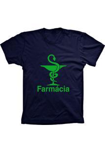 Camiseta Baby Look Lu Geek Farmácia Azul Marinho