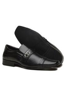Sapato Social Masculino Mb Outlet Bico Quadrado Preto