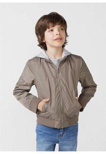 Jaqueta Bomber Infantil Menino Com Capuz Moletom H