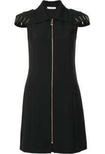 Versace Collection Vestido Com Zíper - Preto