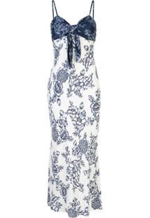 Shona Joy Vestido Com Detalhe De Nó E Padronagem Floral - Azul