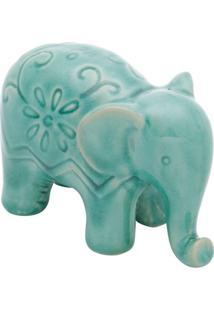 Enfeite Elefante Verde 7,8X6,3X11,5