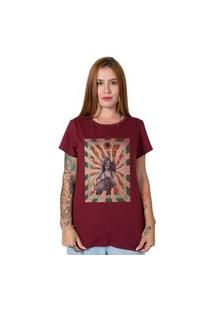 Camiseta Janis Joplin Collage Bordô