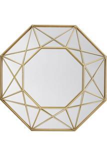 Espelho Decorativo Melissandre 60 X 91 Cm Dourado