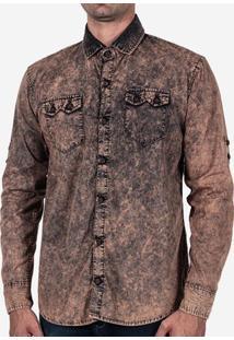 Camisa Manga Longa Chocolate Stone 102667