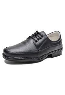 Sapato Social Masculino Leve Com Cadarço Linha Confort