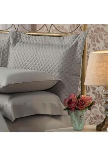 Fronha Para Travesseiro 50X90Cm Matelasse Soft Touch Cinza Plumasul