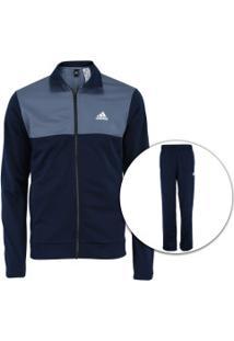 c494164597ed3 Agasalho Adidas Back 2 Basics - Masculino - Azul Escuro