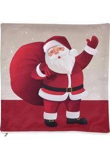 Capa Para Almofada Papai Noel- Vermelha & Branca- 45Mabruk