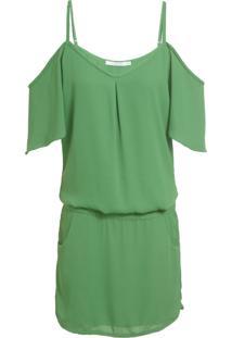 Vestido Ateen Ombro Vazado - Verde