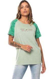 Camiseta Raglan Feminina Camo Graphic Mormaii - Feminino