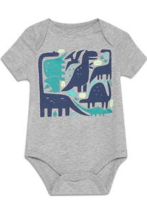 Body Bebê Gap Malha Estampado Masculino - Masculino-Mescla