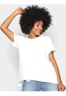 Camiseta Colcci Básica Ampla Feminina - Feminino-Areia