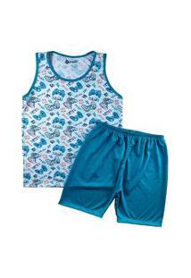 Pijama Masculino Infantil Regata Grappin Malha Pv