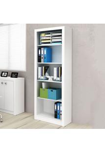 Estante Para Livros 4 Prateleiras Branco Me4104 - Tecno Mobili