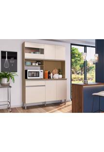 Cozinha Compacta Marina 6 Pt 1 Gv Brunne E Off White