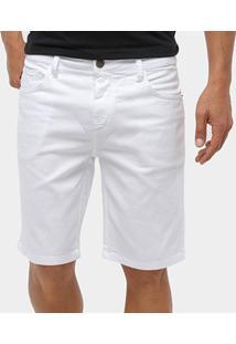 Bermuda Jeans Triton Masculina - Masculino-Branco