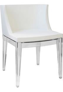 Cadeira Senhorita- Incolor & Branca- 73X50X42Cm-Or Design