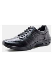 Sapato Pipper Comfort Pelica Carneiro Preto