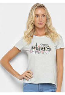 Camiseta Sofia Fashion Paris Feminina - Feminino-Mescla
