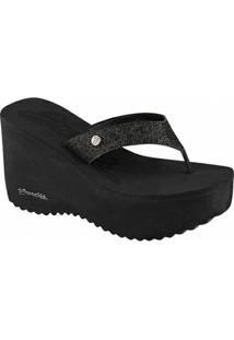 Tamanco Barth Shoes Sorvete Glitter Feminino - Feminino-Preto