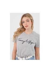 Camiseta Tommy Hilfiger Heritage Graphic Cinza