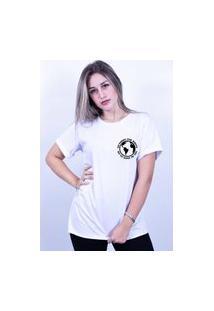 Camiseta Corte A Fio Bilhan Sorry For Whats Pqn Branca