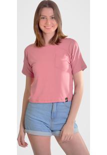 Camiseta Hurano Com Bolso Rosa - Kanui