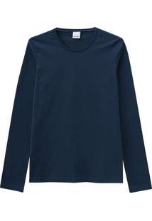 Camiseta Feminina Malwee 1000026302 02023-Azul-Mar