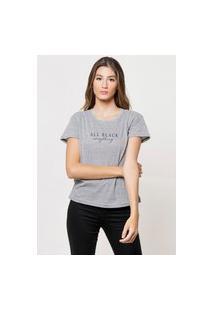 Camiseta Jay Jay Basica All Black Everything Cinza Mescla Dtg