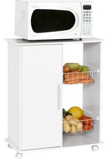 Gabinete De Cozinha Iana Com Fruteira 1 Pt Branco