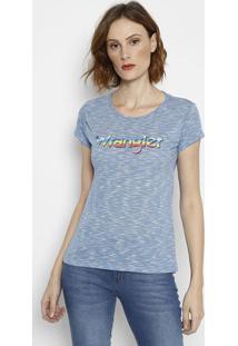 Camiseta Retrã´ Em Flamãª- Azulwrangler