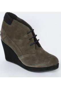 Sneaker Acamurçado Com Tag - Cinza Escuro - Salto: 8Lacoste