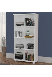 Estante Para Livros 8 Nichos 100% Mdf 1299 Branco - Foscarini