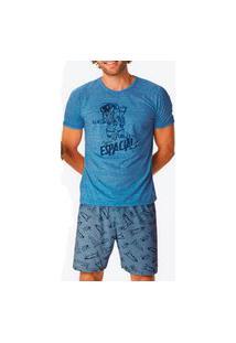 Pijama Masculino Malwee 1000085671 Azul