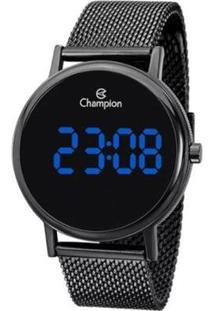 Relógio Champion Digital Led Feminino - Feminino-Preto
