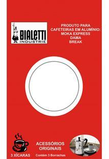 Cartela Com 3 Anéis De Vedação Para Cafeteiras Italianas Bialetti - 6 Xícaras