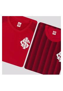 Kit De 2 Camisas Internacional Vermelha