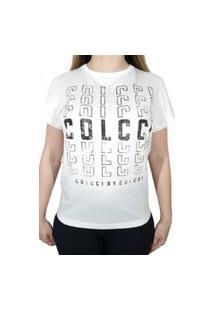 Camiseta Colcci Logo Off-White