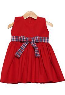 Vestido Veráo Letícia Enxovais Elegance Vermelho - Tricae