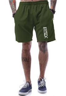 Bermuda Tactel Ezok Vertical Verde Militar